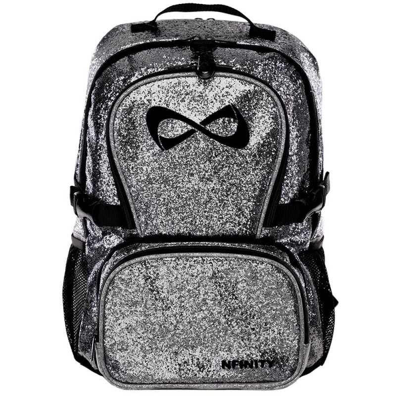 Nfinity Millennial Grey Sparkle Backpack
