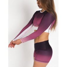 Crop Top Long Purple Blush