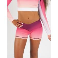 Flex Waist Shorts Berry Flame
