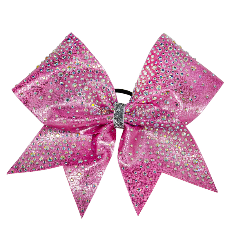 Rhinestone Light Pink Sparkle Bow