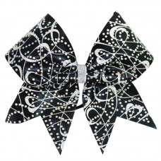 Rhinestone Black Sparkle Bow