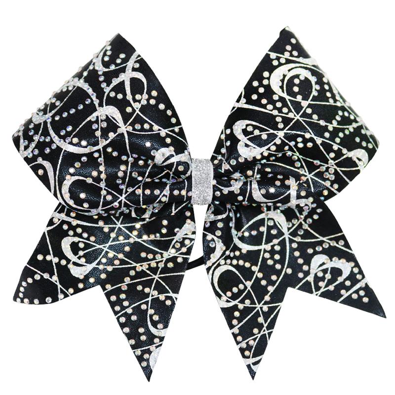 Rhinestone Black Sparkle Bow