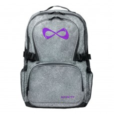 Nfinity PETITE Grey Sparkle Backpack (Logo Options)