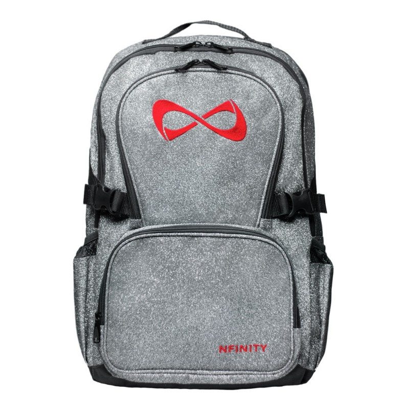 Nfinity Grey Sparkle Backpacks (Logo Options)