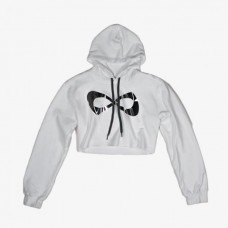 Nfinity Cropped Hoodie White