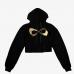 Nfinity Cropped Hoodie Black