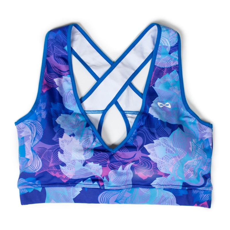 Nfinity Purple/Blue Tropical Sports Bra