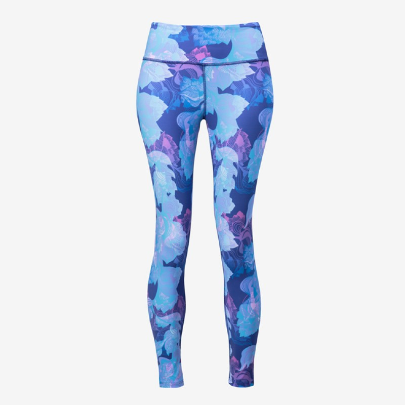 Nfinity Performance Leggings Purple/Blue Tropical