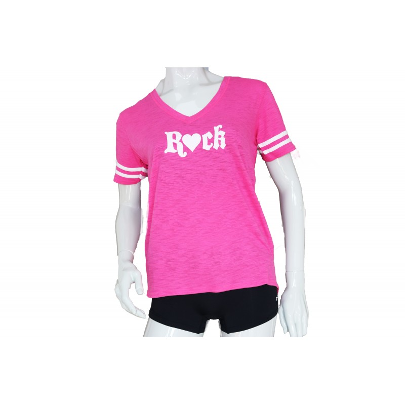 Pink Striped Rock T-shirt