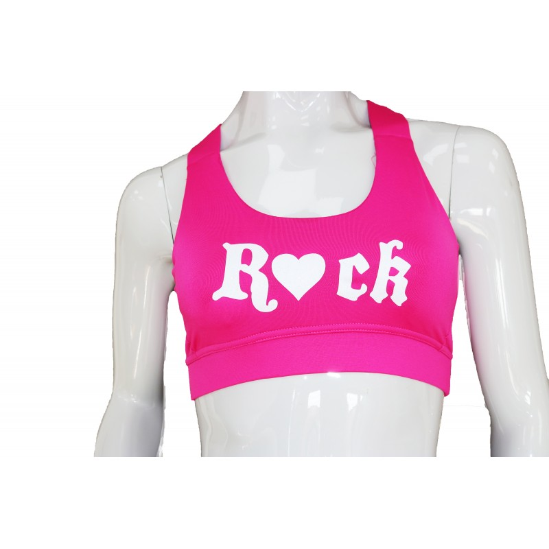 RYH Pink Criss Cross Adult Sports Bra