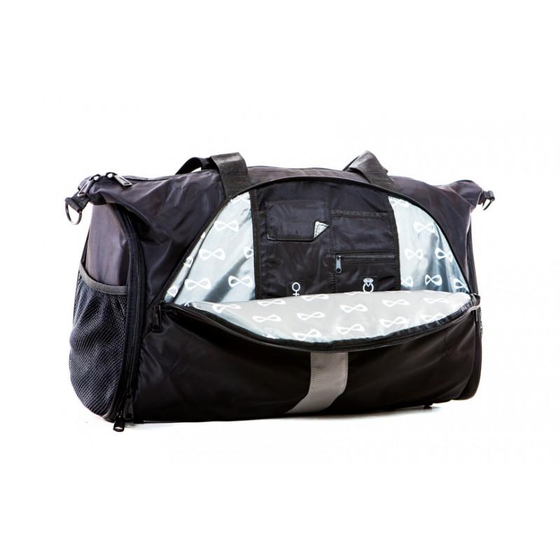 nfinity black duffle bag