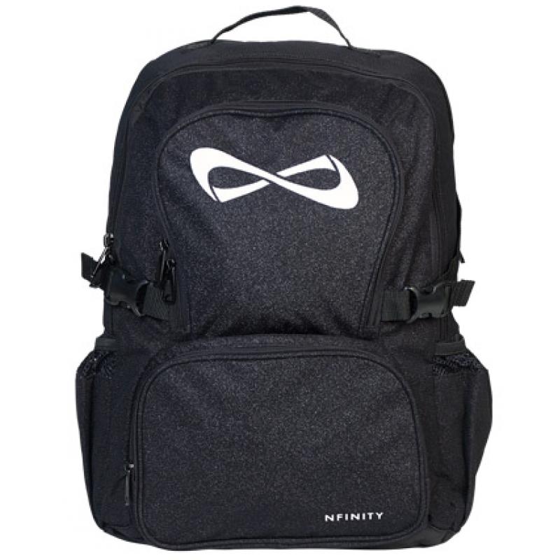 nfinity black sparkle backpack logo options