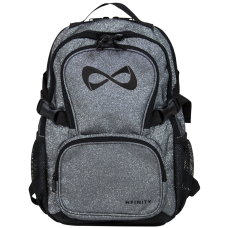 Nfinity PETITE Grey Sparkle Backpack (Logo Options)