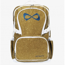 Nfinity Gold Sparkle Navy Logo Backpack