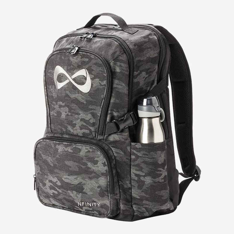 Nfinity Camo Grey Logo Backpack