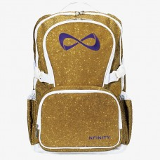 Nfinity Gold Sparkle Purple Logo Backpack