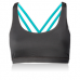 Nfinity Teal Cross Back Sports Bra