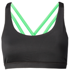 Nfinity Lime Green Cross Back Sports Bra