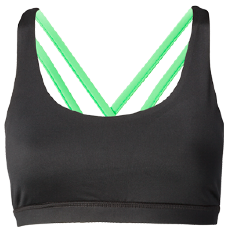 Nfinity Lime Green Cross Back Sports Bra