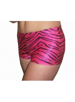 Zebra Boy Cut Shorts Adult